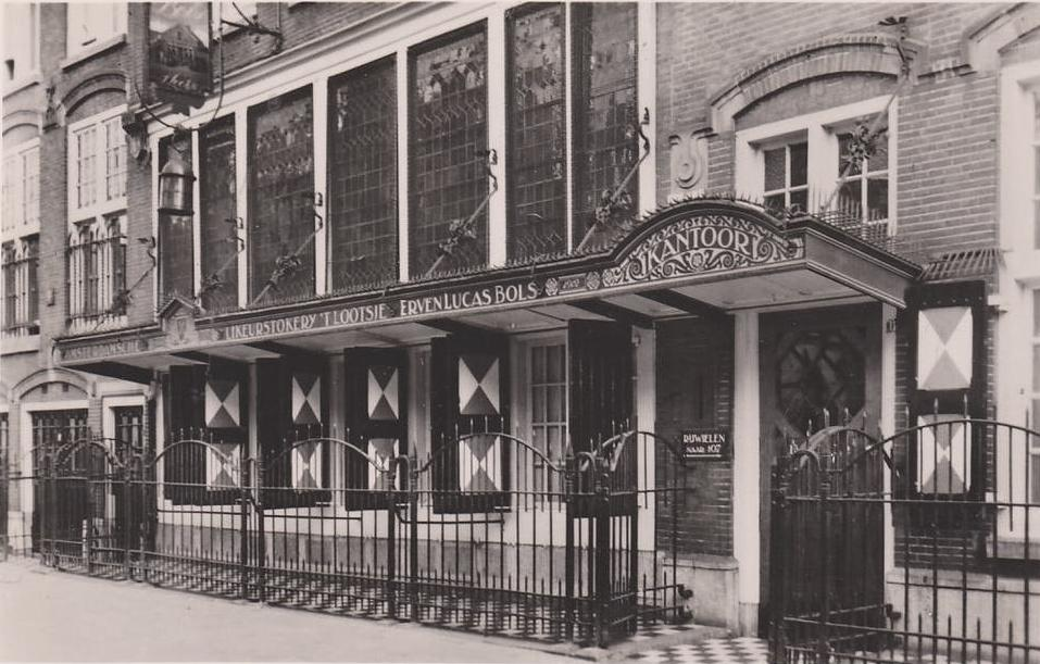 The Bols distillery, now one of the dominant genever producers, started in Amsterdam in 1575. This photo is from 1920s.