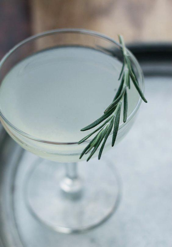 Cucumber and rosemary gimlet