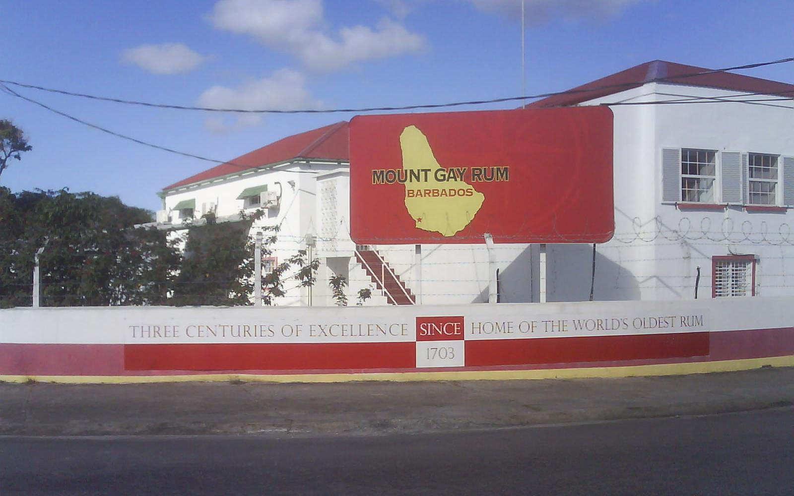 The Mount Gay Rum visitors centre claims to be the world's oldest remaining Rum company, with earliest confirmed deed from 1703.