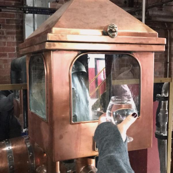 A taste of White Dog at Barton Distillery