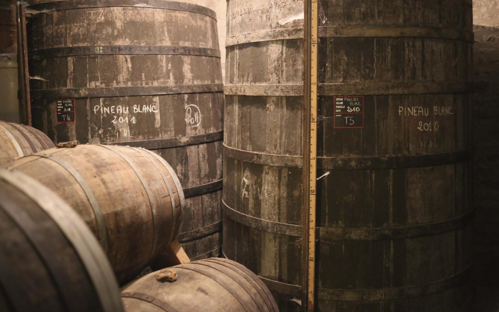 Pineau des Charentes is matured in oak barrels.