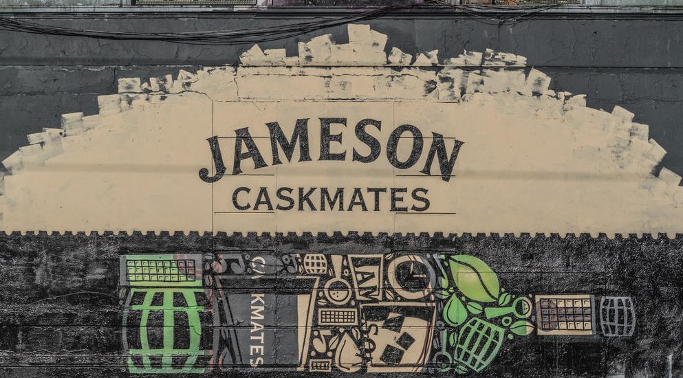 JAMESON CASKMATES ADVERTISEMENT ON CHANCERY STREET IN DUBLIN - Photo: Flickr/ William Murphy