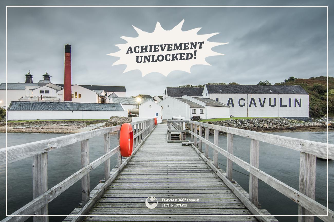 Lagavulin distillery from the pier