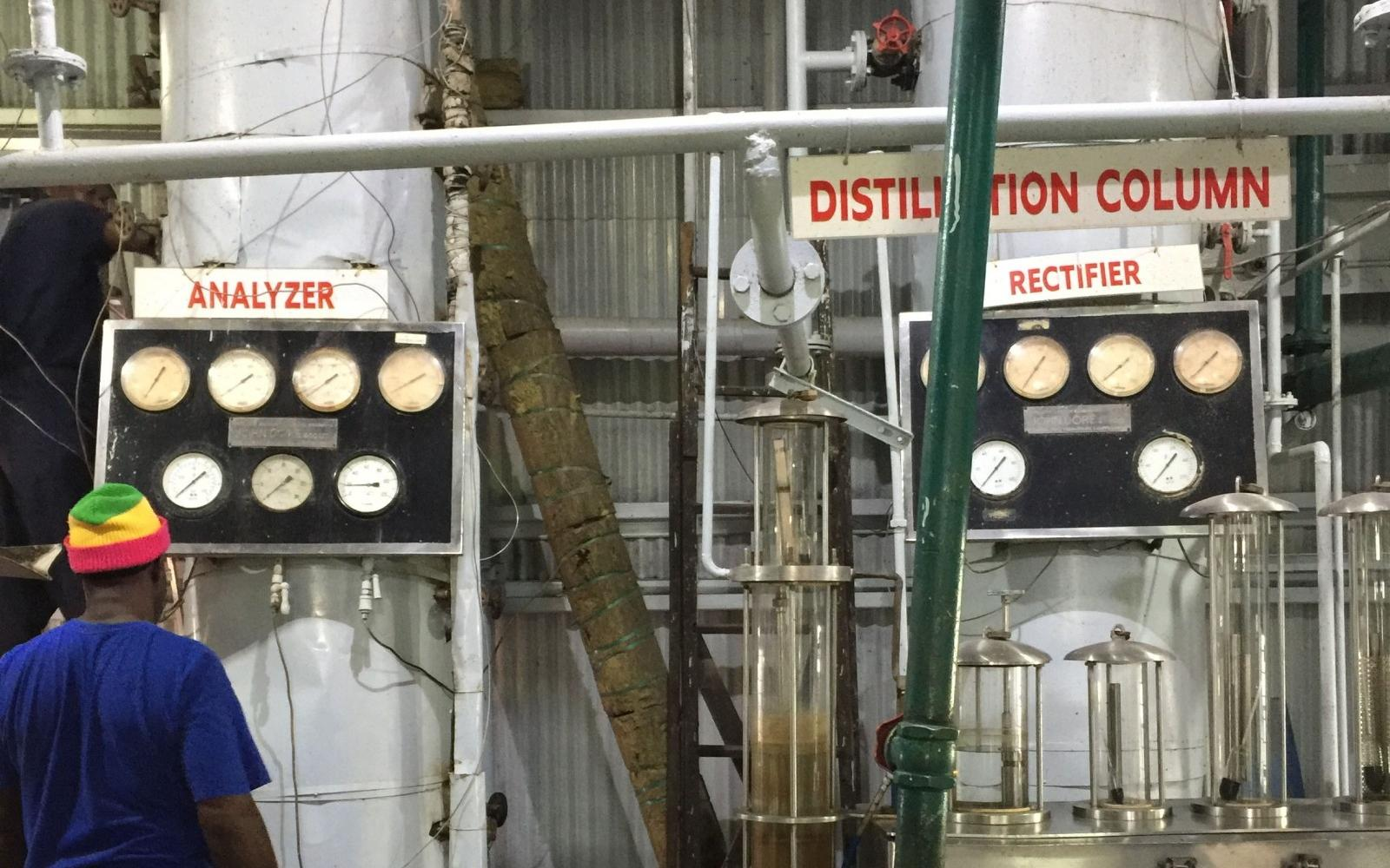 John Dore Still at Grenada Distillers
