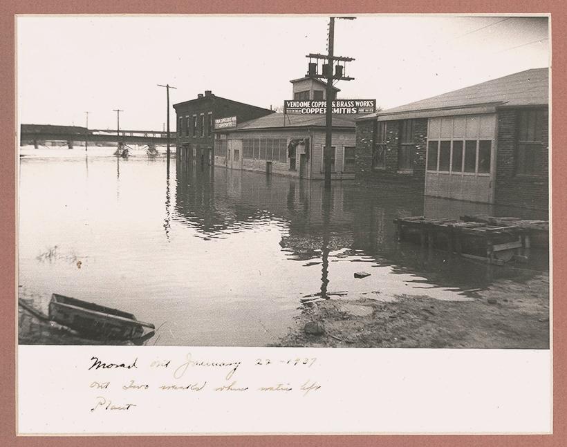 Massive flooding in January 1937. / Photo: Vendome