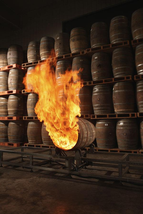 Charring of the barrels at Kavalan Distillery - Photo: Kavalan Distillery