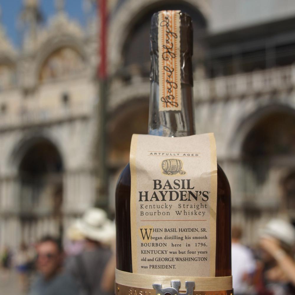 Basil Hayden's Bourbon taking Selfies at Piazza San Marco
