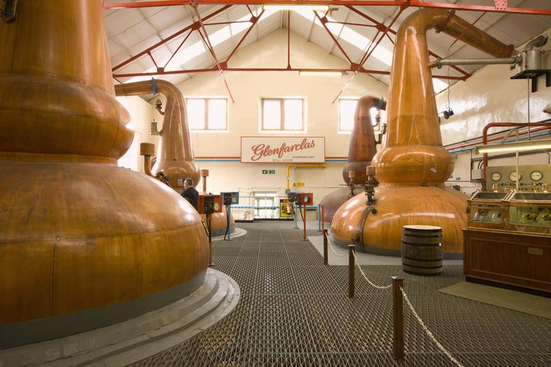 Stills at Glenfarclas Distillery - Photo: Glenfarclas Distillery