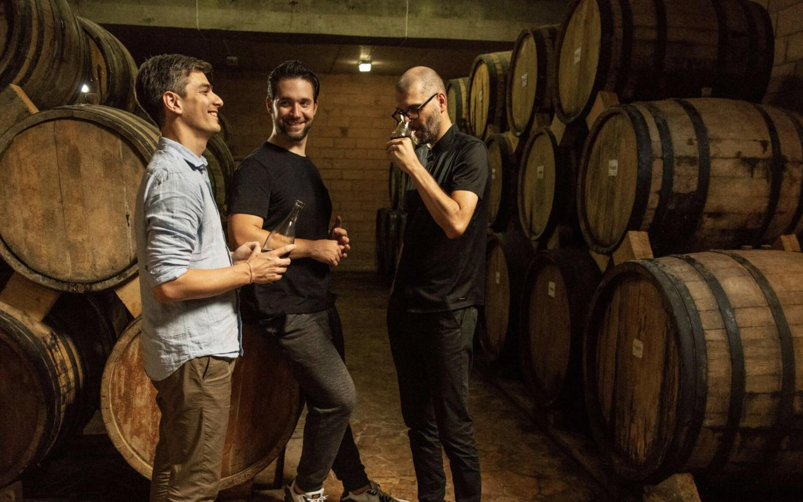 Sourcing and blending trip to Armenia: Alexis Ohanian (middle) and Flaviar Co-Founders Jugoslav Petkovic (left) and Grisa Soba (right).