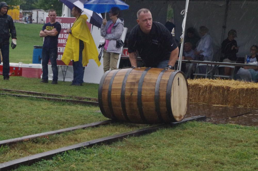 Barrel Rolling Competition at Kentucky Bourbon Festival
