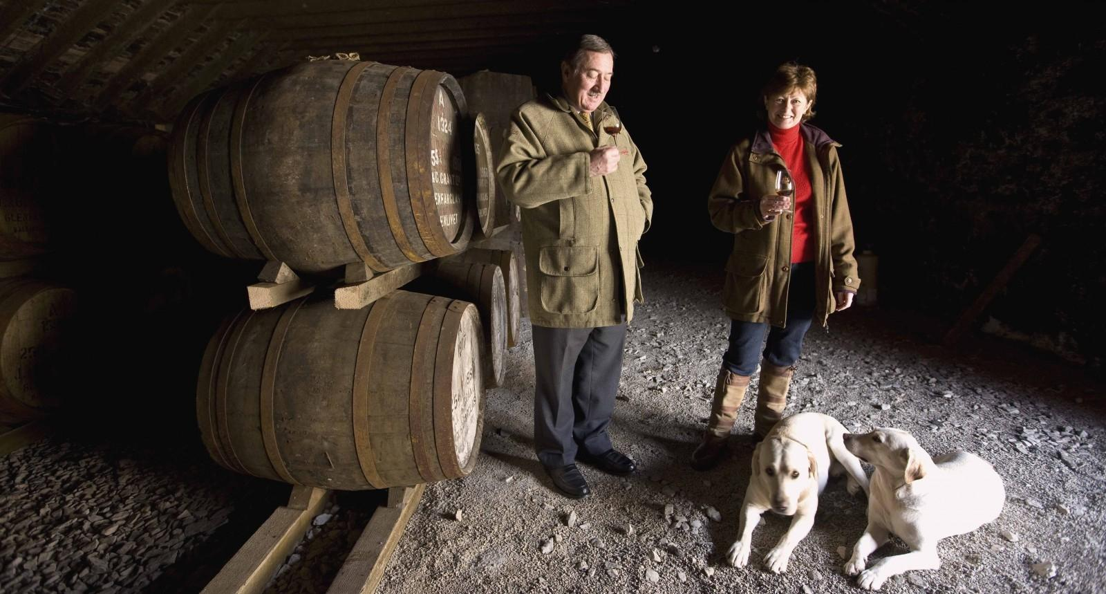 JOHN GRANT AND HIS WIFE - PHOTO: GLENFARCLAS DISTILLERY