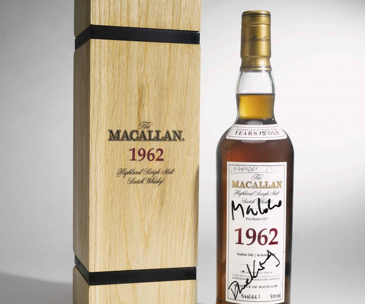 Macallan bottle sold at auction at 50th Bond anniversary