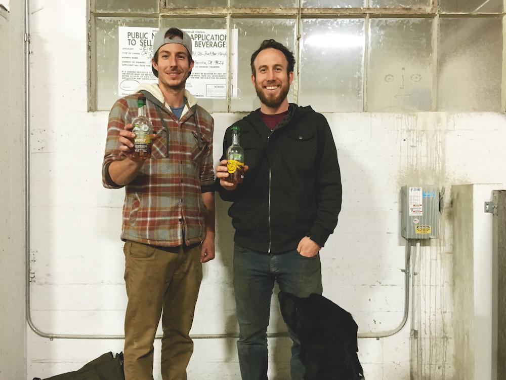 Tim and Clint of Seven Stills in their new space during renovation