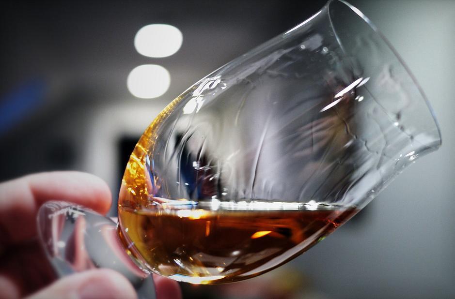 Whisky Legs Running Down the Glass
