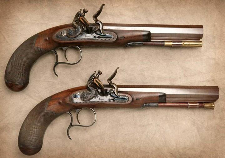 George Smith's two pistols - Photo: Facebook / The Glenlivet