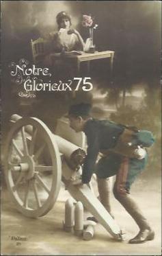 French 75 Propaganda Postcard
