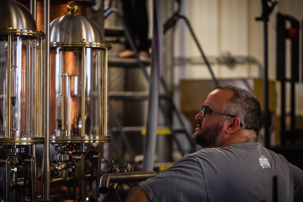 John in the distillery - Photo: Smooth Ambler Spirits