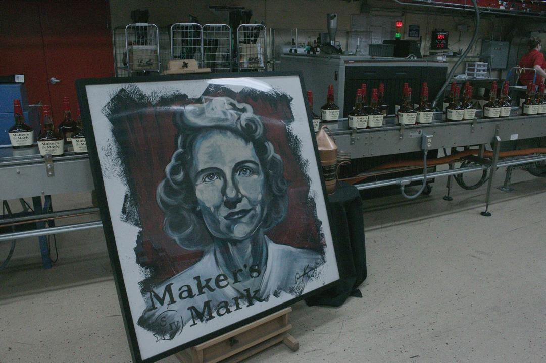 Marge Samuels Painting at Maker's Mark Distillery