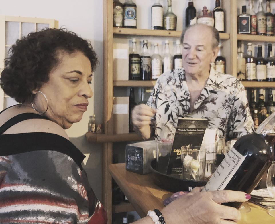 Stephen and another legend of the Rum world: Joy Spence - Appleton Estate's Master Blender and the first female master blender in the spirits industry. Photo credit: Maggie Campbell